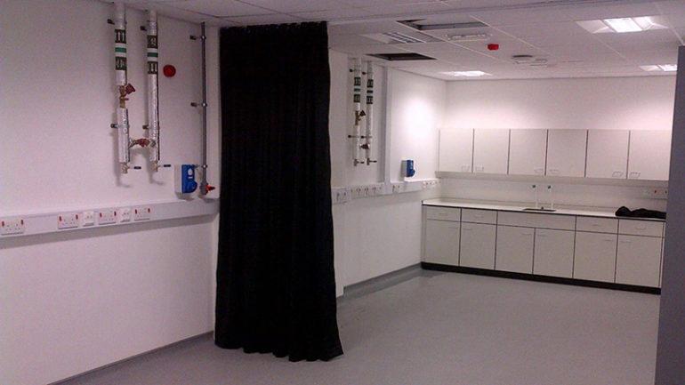 Room Divider Curtains Installation