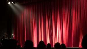 Stage backdrop curtains