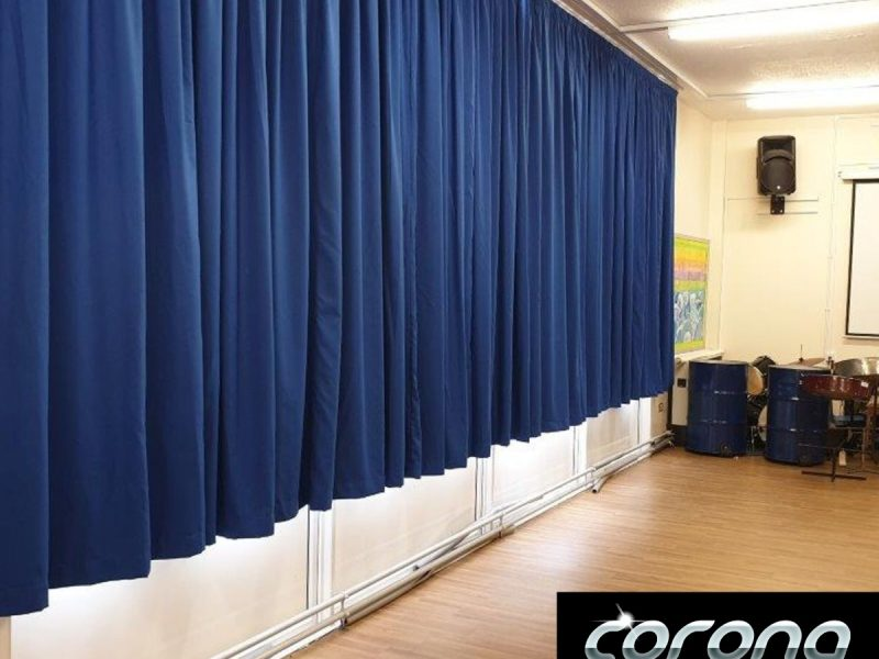 School curtains & track system in Formby